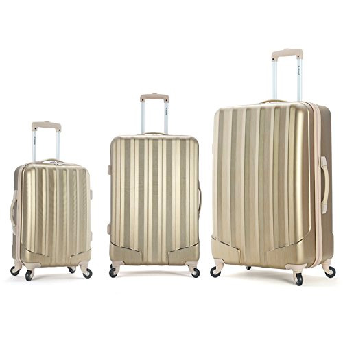 Rockland Luggage a 3 Piece Metallic Set