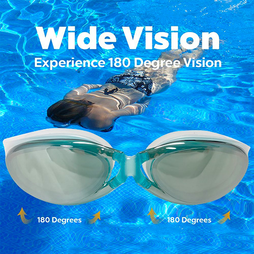 U-FIT Top Performance Swim Goggles- Comes with Case