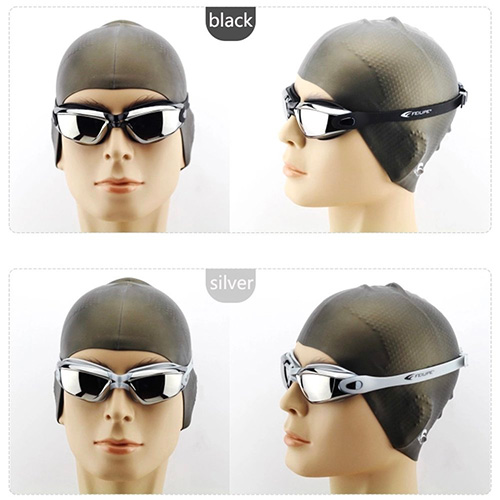 Adult Swim Goggles Mirrored Anti Fog UV Protection Waterproof