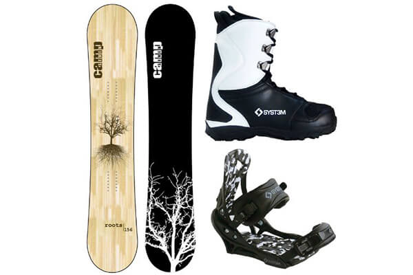 2016 Camp Seven Roots RCR *Blem* Men's Snowboard + APX Bindings + Boots Complete Snowboard Package