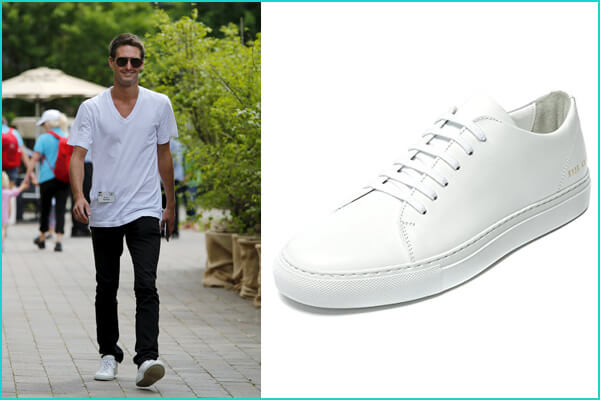 Evan Spiegel: Common Projects Original Achilles Leather Sneakers