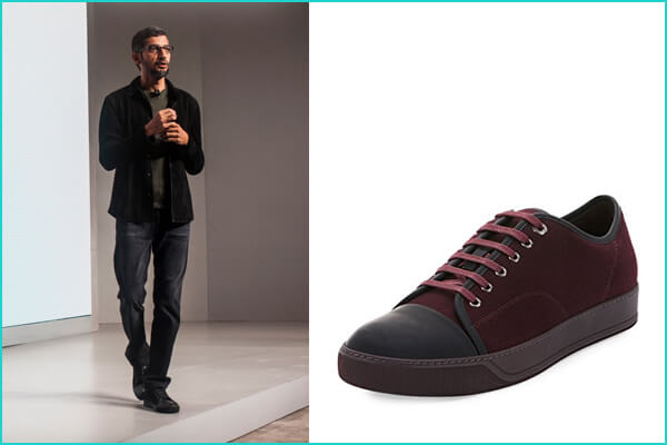 Sundar Pichai: Lanvin Men's Cap-Toe Leather Low-Top Sneaker