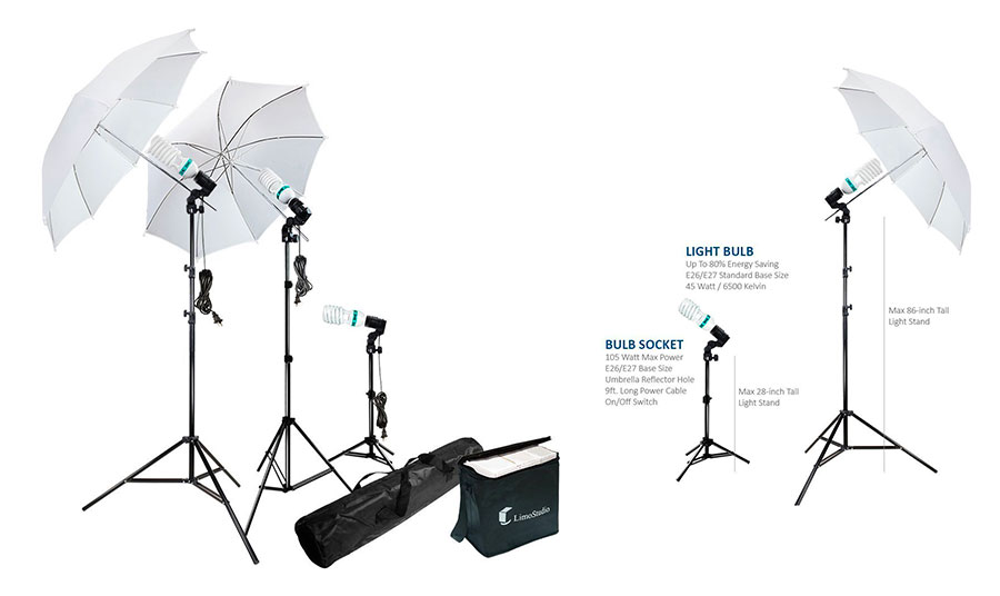 Top 10 Best Continuous Output Lighting for Video Shooting in 2017 Reviews