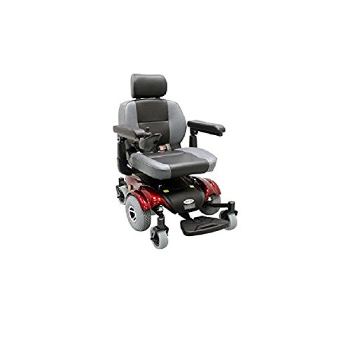 Upgraded Compact Mid - Wheel Power Chair Color: Burgundy