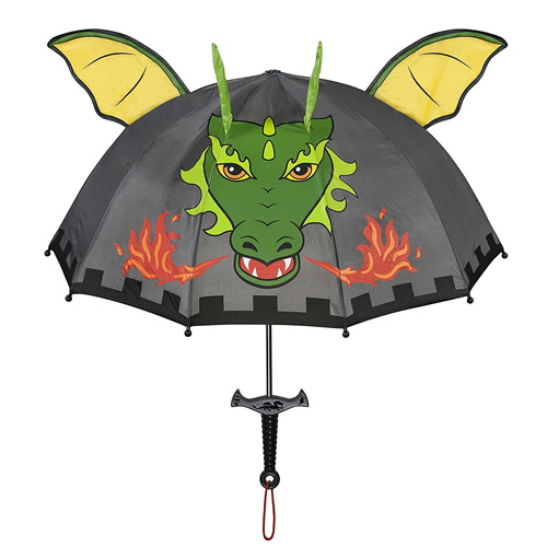 Kidorable Little Boys' Grey Dragon Knight Umbrellas