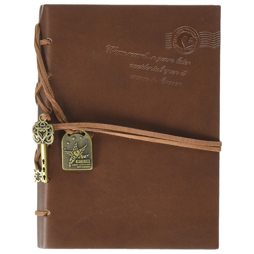 Aitao Vintage String Key Classic Leather Bound Notebook