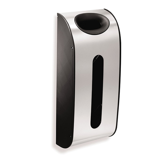 SimpleHuman Wall Mount Grocery Bag Dispenser, Stainless Steel – Quantity 6
