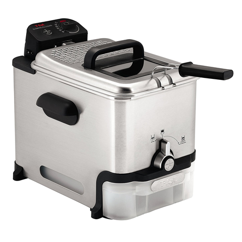 T-fal 3.5-Liter Fry Basket Stainless Steel Immersion Deep Fryer