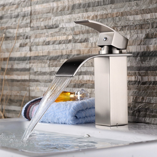 Yodel Stainless Steel Single Handle Waterfall Faucet