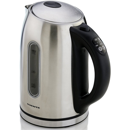 Ovente KS88S Temperature Control Stainless Steel Electric Kettle, 1.7 L