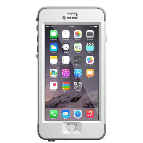 """Lifeproof iPhone 6 Plus Case(5.5"""" Version) Nuud Avalanche (Bright White/ Cool Gray)"""
