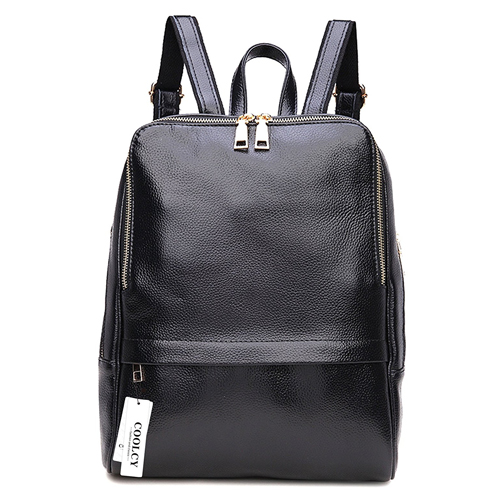 Coolcy Hot Style Casual Women Real Genuine Leather Backpack