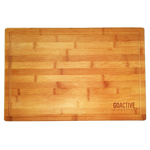 Go Active Lifestyle Extra Large 18x12 Bamboo Cutting Board With Drip Groove