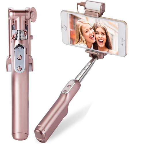 Selfie Stick, MOCREO Bluetooth Selfie Stick with 360 Degree Led Fill Light and Mirror