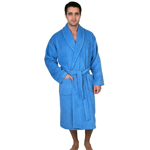TowelSelections Men's Robe, Turkish Cotton Terry Shawl Bathrobe Made in Turkey