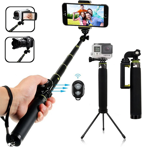 Bluetooth Selfie Stick, LENDOO Extendable Monopod with Tripod Stand