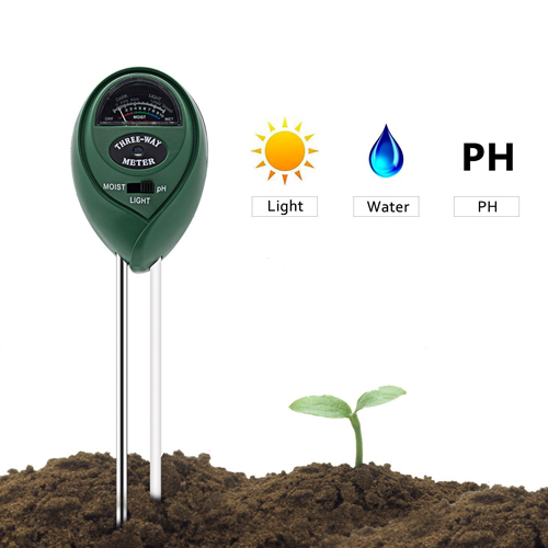 Soil Tester, Deepow 3-in-1 Soil Moisture Meter, Soil Ph Meter Kit for Moisture, Light & pH
