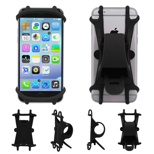 """AxPower Bike Cell Phone Mount Motorcycle Handlebar Cellphone Holder Bicycle Silicone Cradle Clamp for iPhone 7 Samsung Galaxy S7 Universal Smartphone 4"""" - 5.5"""""""