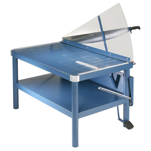 """Dahle 585 43 1/4"""" Premium Large Format Guillotine Lever Paper Cutter, Grade: 12 to 12, 41'' Height, 29.875'' Width, 45.875'' Length"""