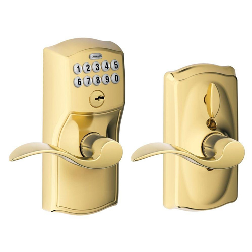 Schlage FE595VCAM619ACC Camelot Keypad Accent Lever Door Lock