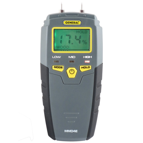 General Tools & Instruments MMD4E, Moisture Meter, Pin Type, Digital LCD