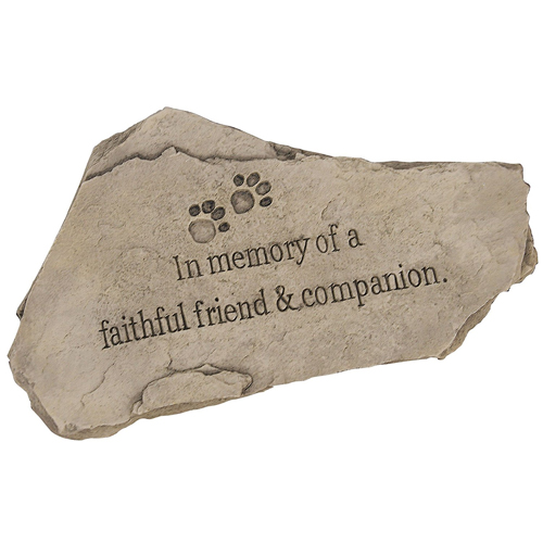 Evergreen 85002 Garden Tiding Stone, In Memory of a Faithful Friend and Companion, 15-Inches Wide