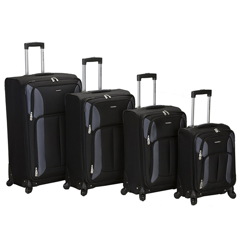 Rockland Four-Piece Impact Spinner Luggage Set