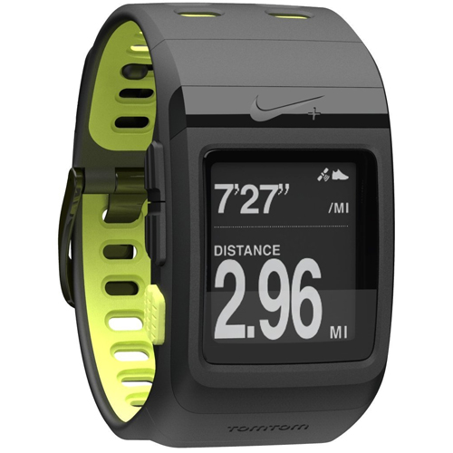 The Nike+ Sport Watch GPS Powered by TomTom (Black/Volt)