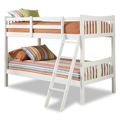 Stork Craft Caribou Bunk Bed, White