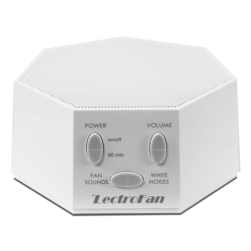 LectroFan - White Noise Machine, 20 Sleep Therapy Sound Options and 7 Unique Sleep Settings, White