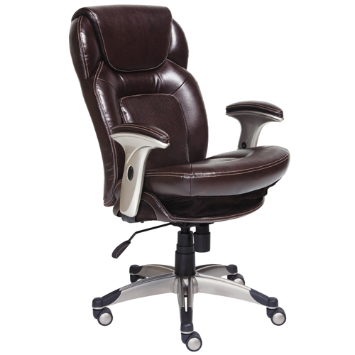 Serta 44187 Back In Motion Health And Wellnes Mid-Back Office Chair, Frye Chocolate