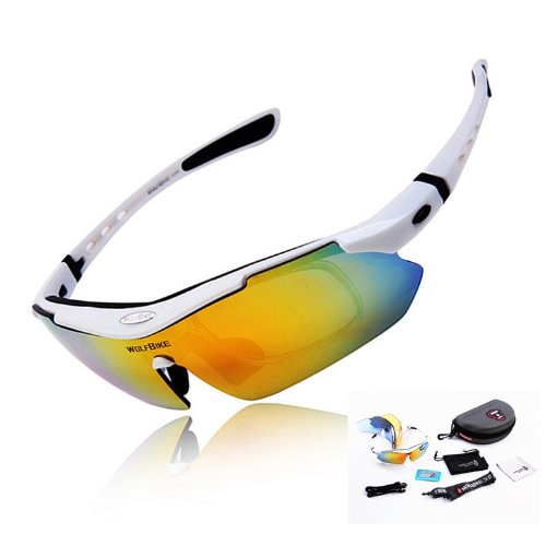 WOLFBIKE UV400 Protection Sports Sunglasses for Cycling Fishing Golf