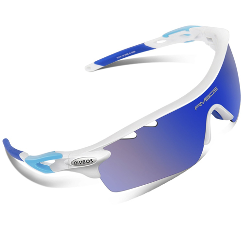 RIVBOS® 801 Polarized Sports Sunglasses with 5 Interchangeable Lenses