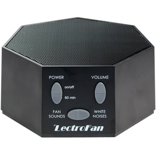 LectroFan - White Noise Machine, 20 Sleep Therapy Sound Options and 7 Unique Sleep Settings, Black