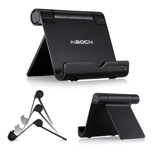 The Aibocn Upgraded Multi-Angle Aluminum Stand for Tablets Smartphones