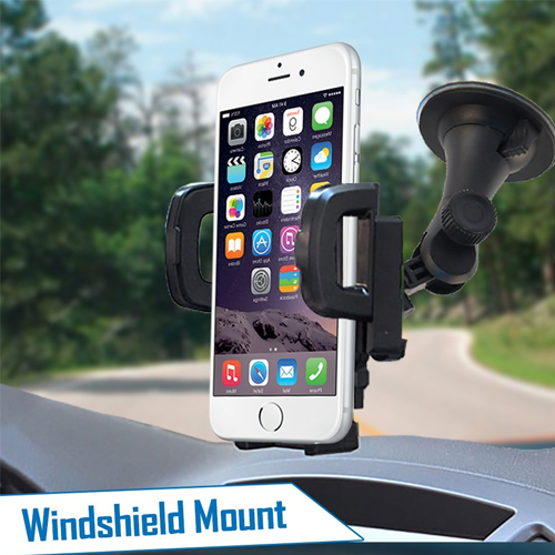 2-in-1 Phone Mount Holder + USB Charger Adapter