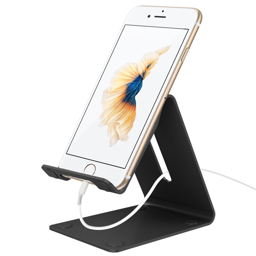 The Esonstyle Desktop Cell Phone Stand: Portable Aluminum Smartphone Holder