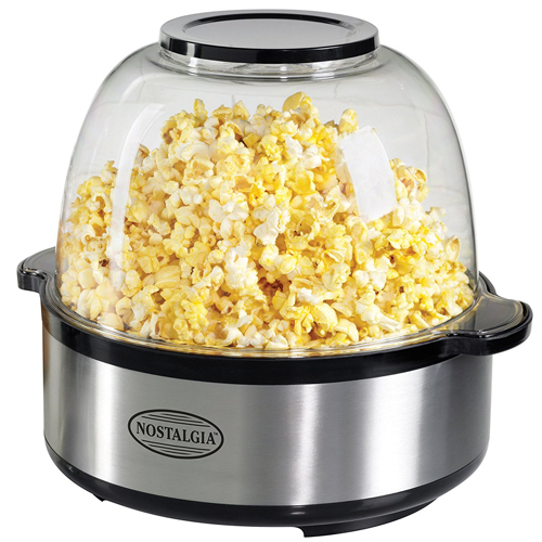 Nostalgia Electrics SP660SS Stirring Popcorn Maker, Stainless Steel