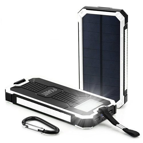 Solar Charger, FKANT 15000mAh Portable Dual USB Solar Battery Charger