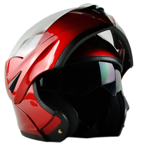 ILM 10 Colors Motorcycle Dual Visor Flip up Modular Full Face Helmet DOT