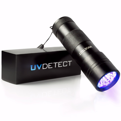 UV Detect UV Flashlight - Best LED Ultra Violet Blacklight for Pet Stains - Cat Stain Detector