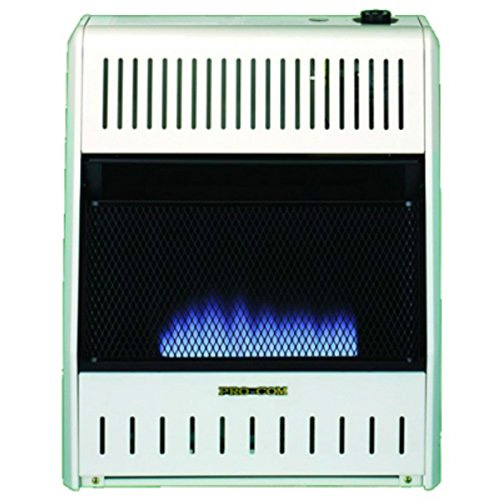 ProCom MG20TBF Ventless Dual Fuel Blue Flame Wall Heater, 20,000 BTU