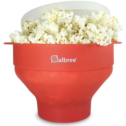 Popcorn Maker - FDA Approved and BPA Free, Silicone Microwave Popcorn Popper Machine by Salbree
