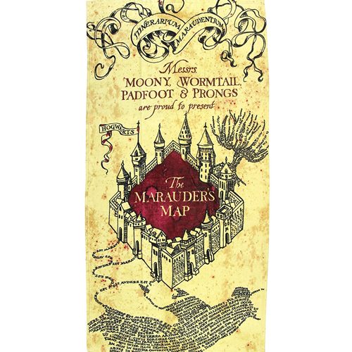 Harry Potter Map Beach Towel