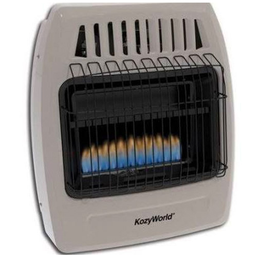 Kozy World KWP254 20000 Btu Blue Flame Propane Vent Free Wall Heater