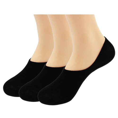 Hippih Women's 3 to 9 Pack Thin Casual No Show Socks Non Slip Flat Boat Line