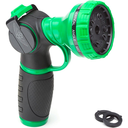 METAL GARDEN HOSE NOZZLE ANTI-LEAK HEAVY DUTY 10 PATTERN ANTI-RUST