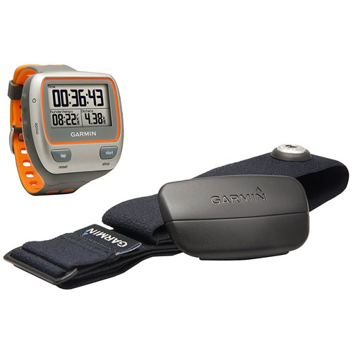 Garmin Forerunner 310XT Waterproof USB Stick and Heart Rate Monitor, Gray/Orange