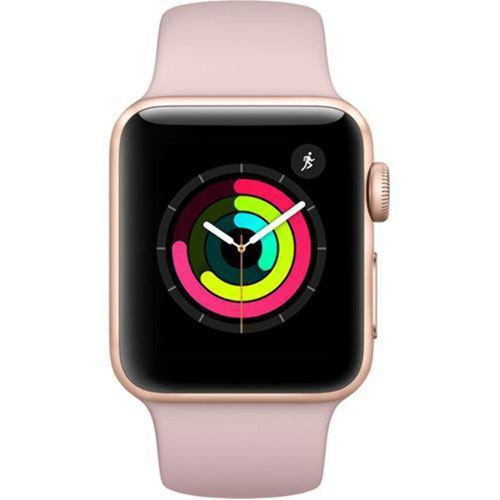 Apple Watch Series 3 - GPS - Gold Aluminum Case with Pink Sand Sports Band - 38mm