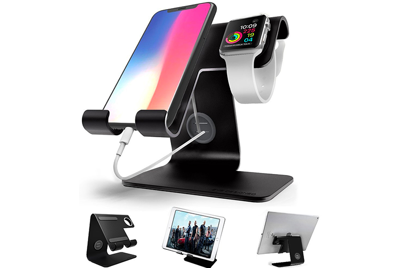 Apple Watch Stand , iphone Stand , ZVEproof Universal Desktop Cellphone Stand Apple iwatch Charging Dock